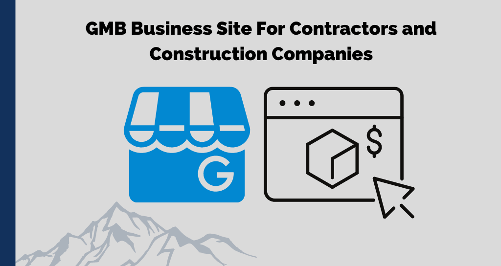 GMB Business Site For Contractors and Construction Companies